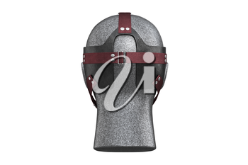 Night vision optics soldier instrument, back view. 3D rendering