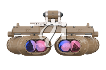 Night vision goggles, back view. 3D rendering