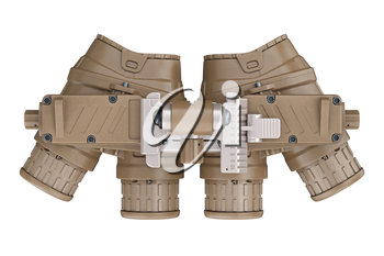Night military vision device, top view. 3D rendering