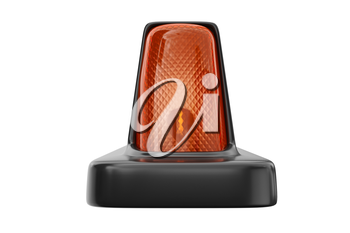 Taxi sign cab with orange backlight. 3D rendering
