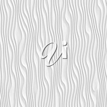 Shiny bright soft abstract white background with smooth folds lines for various design artworks, business cards, banners and graphic, 3d illustration