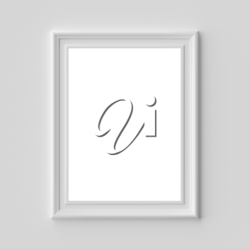 White blank picture or photo frame on white wall vertical, with shadows with copy-space, white colorless picture frame template, art frame mock-up 3D illustration