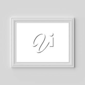 White blank photo or picture frame on white wall horizontal with shadows with copy-space, white colorless picture frame template, art frame mock-up 3D illustration