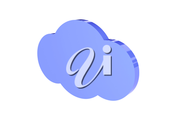 Cloud icon over white background. Concept 3D illustration.