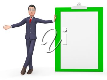 Check Marks Meaning Business Person And Entrepreneurial 3d Rendering