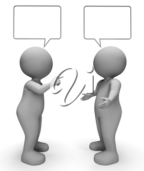 Speech Bubble Meaning Copy Space And Explain 3d Rendering
