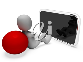 Smartphone Character Meaning World Wide Web And Website 3d Rendering