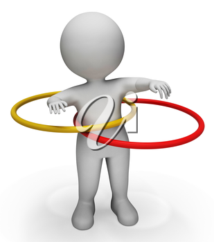 Hula Hoop Meaning Physical Activity And Gyms 3d Rendering