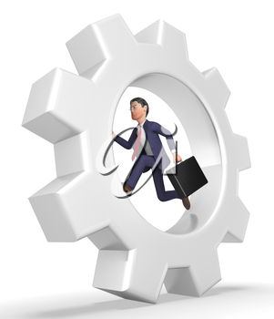 Rat Race Meaning Business Person And Wearisome 3d Rendering