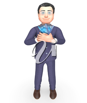 Credit Card Representing Business Person And Purchasing 3d Rendering