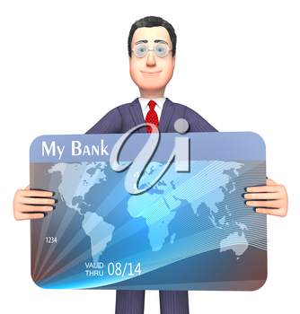Credit Card Showing Purchasing Crisis And Bankrupt 3d Rendering