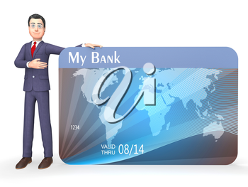 Credit Card Meaning Shopping Payment And Banking 3d Rendering