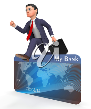 Credit Card Meaning Business Person And Buyer 3d Rendering