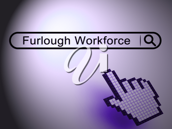 Furloughed Or Downsized Employees Sent Home. Temporary Shutdown Causing Layoffs From Bad Economy Or Coronavirus - 3d Illustration