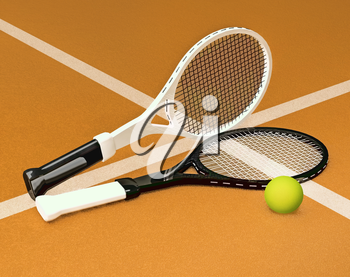 Tennis; rackets; sphere; court; game; grund; marking.