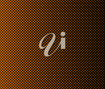Basic halftone dots effect in black and orange color. Halftone effect. Dot halftone. Black orange halftone. Halftone background. Left to right.