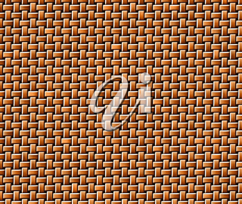 Closeup view of brown rattan knitted texture.