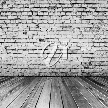 Bricks in black and white room. All textures created by me 3d rendering