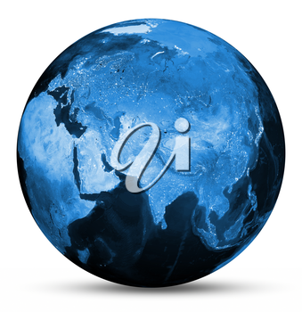 Earth blue map. Elements of this image furnished by NASA 3d rendering