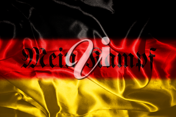 German flag blowing in the wind With Letters That Spell My Fight