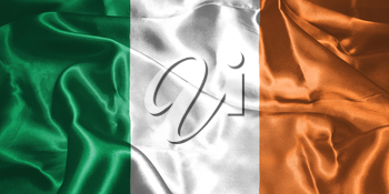 St. Patrick's Day. Flag Of Ireland 3D illustration