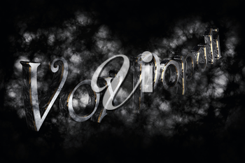 Vox Populi Latin Phrase That Means The Voice Of The People On Black Background With White Clouds