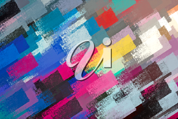 Abstract brush paint strokes illustration. Impressionist background pattern.